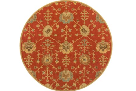 96 Inch Round Rug-Callaby Red