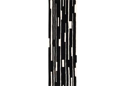 30X96 Rug-Klavier Black/White