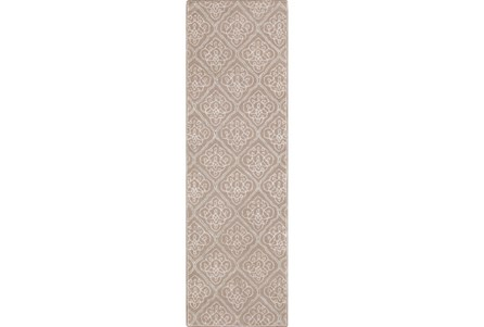 30X96 Rug-Blume Taupe/Ivory