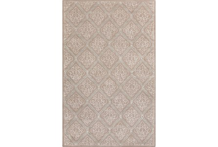 60X96 Rug-Blume Taupe/Ivory
