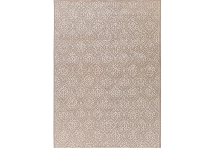 96X132 Rug-Blume Taupe/Ivory