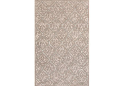 108X156 Rug-Blume Taupe/Ivory