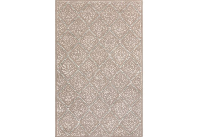 108X156 Rug-Blume Taupe/Ivory - 360