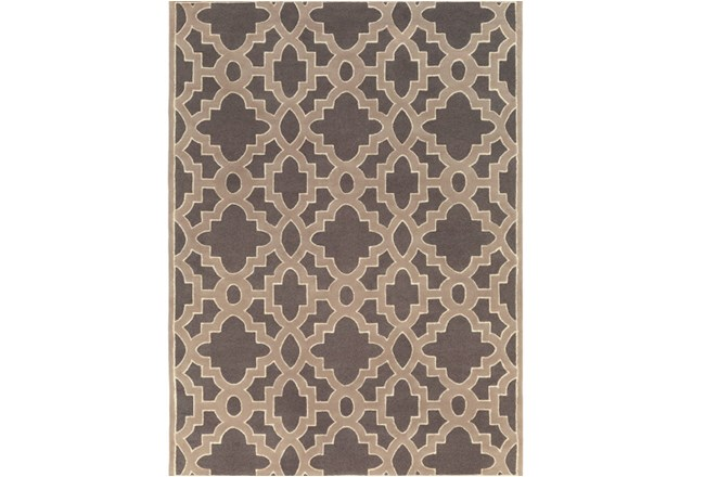 96X132 Rug-Temple Charcoal - 360