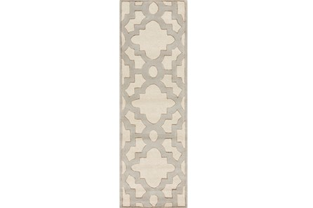 30X96 Rug-Temple Ivory/Grey
