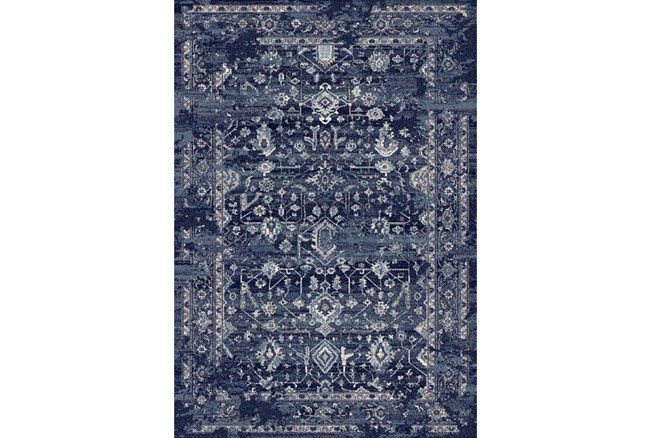 94X134 Rug-Courtney Indigo - 360