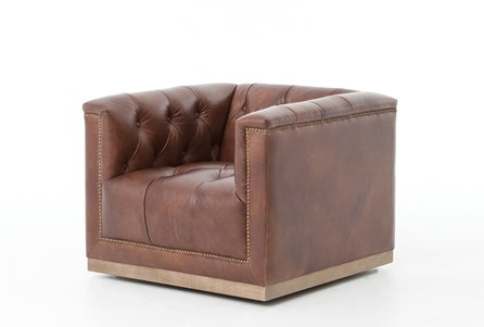 Auguste Whiskey Swivel Chair