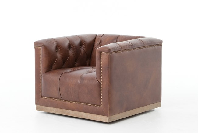 Auguste Whiskey Swivel Chair - 360