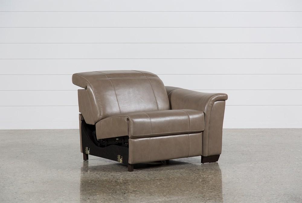 Skylar Leather Power Right Facing Recliner W/Manual Headrest