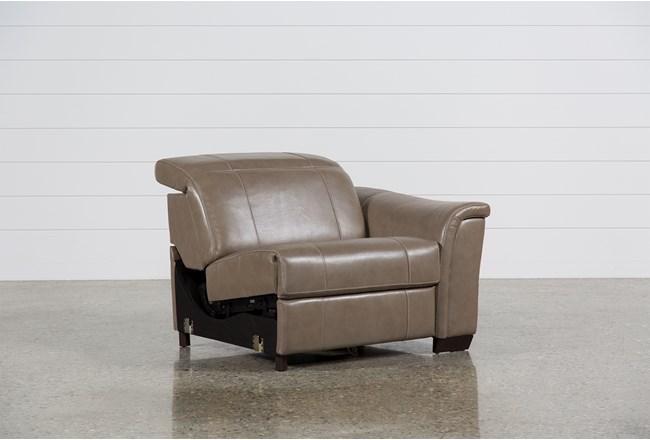 Skylar Leather Power Right Facing Recliner W/Manual Headrest - 360