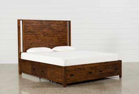 Charles California King Panel Bed W/Storage