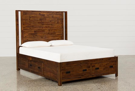 Charles Queen Panel Bed W/Storage