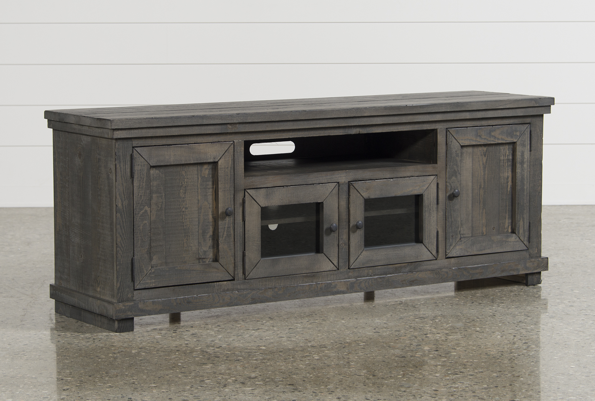 Sinclair Grey 74 Inch TV Stand Qty