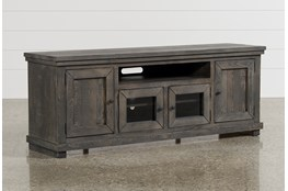 Sinclair Grey 74 Inch TV Stand