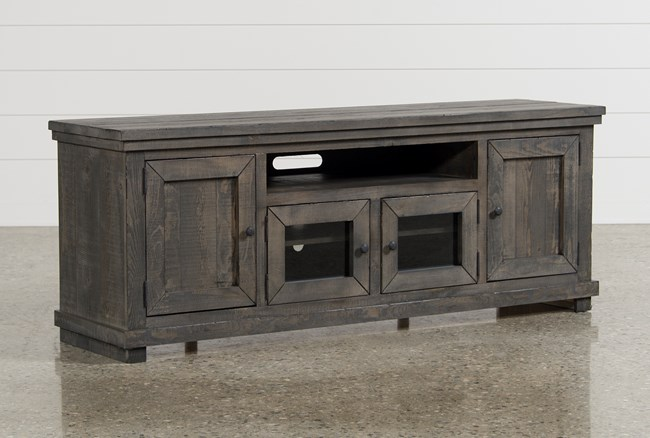 Sinclair Grey 74 Inch TV Stand - 360