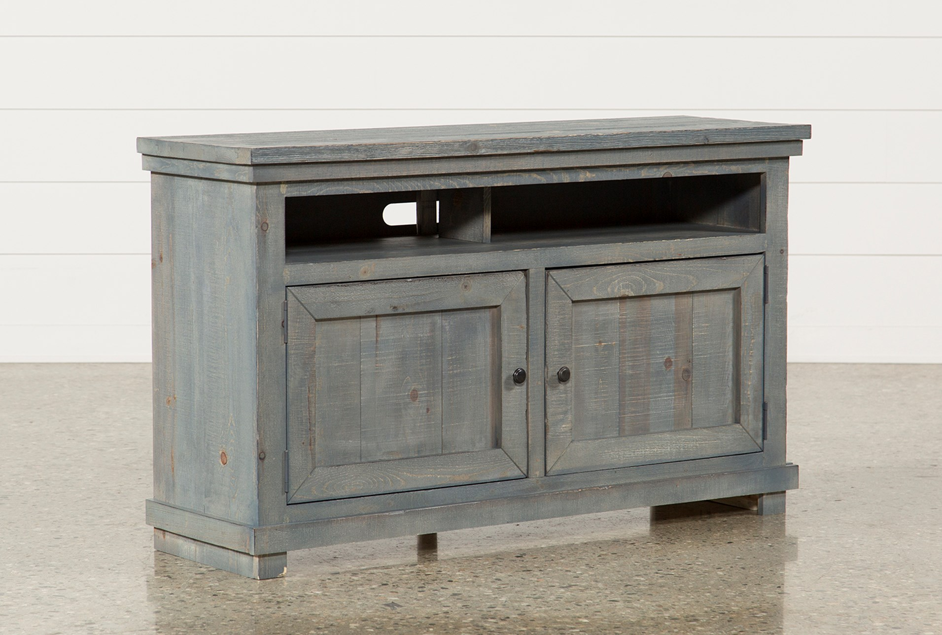 Sinclair Blue 54 Inch Tv Stand Living Spaces