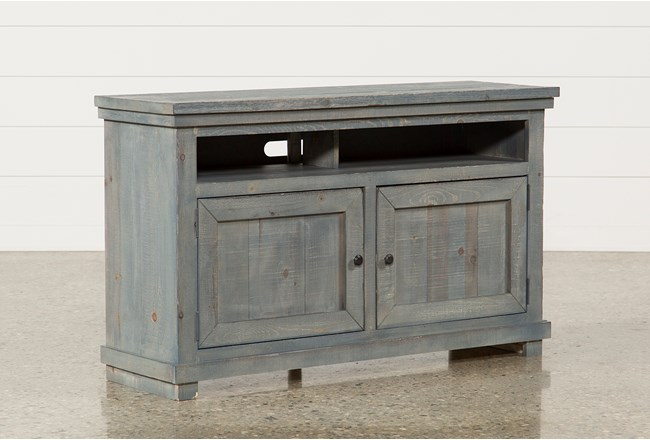 Sinclair Blue 54 Inch TV Stand - 360
