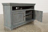 Sinclair Blue 54 Inch TV Stand - Left
