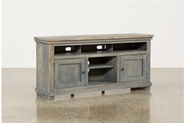 Sinclair Blue 64 Inch TV Stand