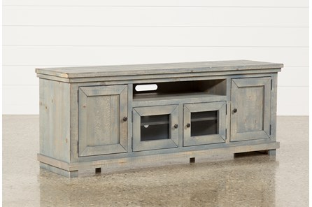 Sinclair Blue 74 Inch TV Stand