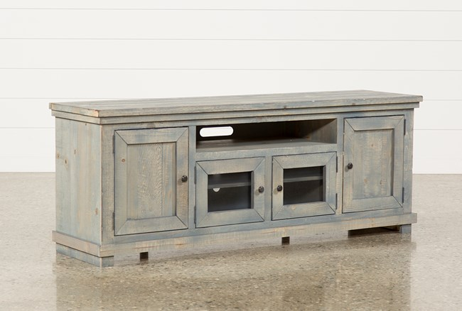 Sinclair Blue 74 Inch TV Stand - 360