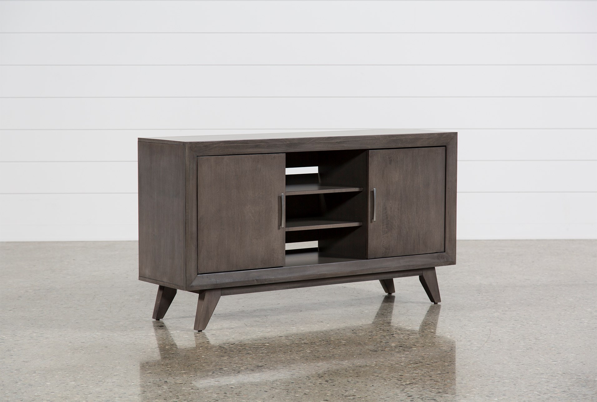 Abbott Driftwood 60 Inch Tv Stand Living Spaces