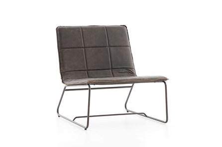 Rialto Ebony Waxed Black Lounge Chair