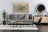 Rialto Ebony Waxed Black Lounge Chair - Room