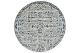 8' Round Rug-Melissa Blue