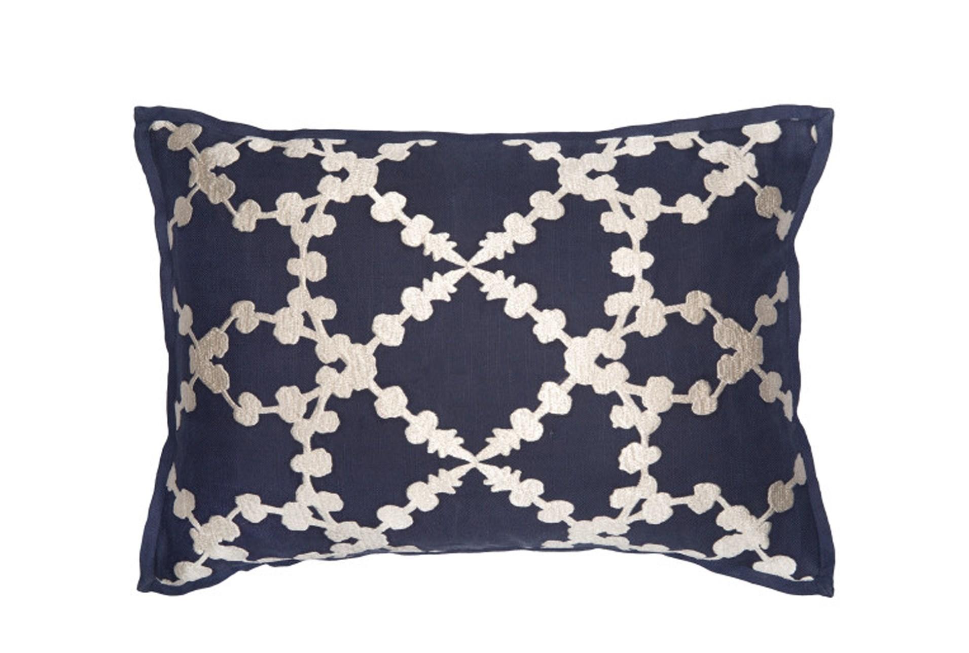 Decorative Pillows Living Spaces : Accent Pillow-Martha Lattice Indigo 14X20 Living Spaces