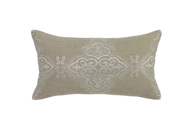 Accent Pillow-Barrington Pearl Brocade 14X26 - 360