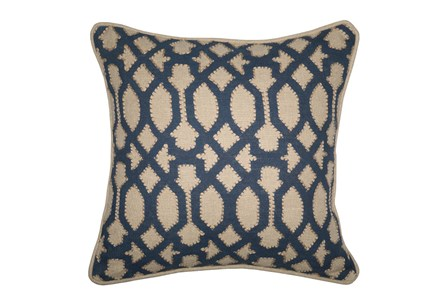 Accent Pillow-Barrington Trellis Indigo 18X18