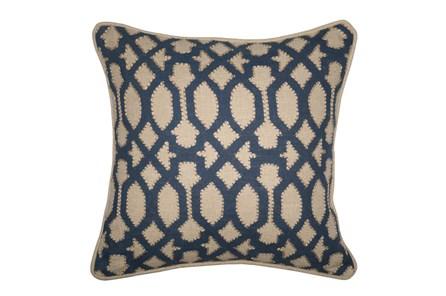 Accent Pillow-Barrington Trellis Indigo 18X18