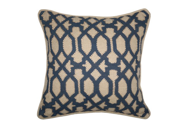 Accent Pillow-Barrington Trellis Indigo 18X18 - 360