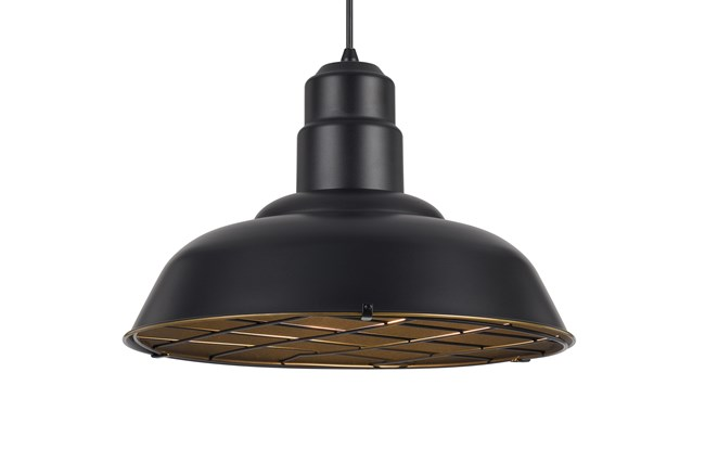 Pendant-Hudson Dark Bronze - 360