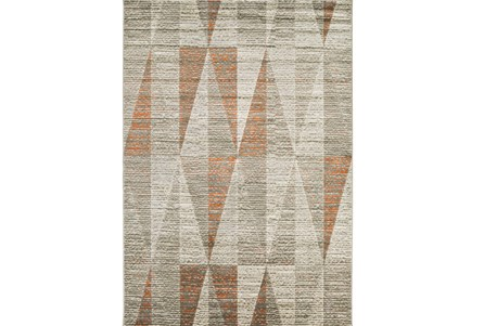 26X36 Rug-Hiru Grey/Orange