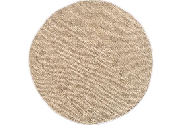 96 Inch Round Rug-Delon Beige - 360