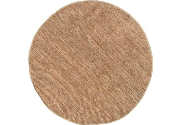 96 Inch Round Rug-Delon Taupe - 360