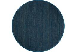96 Inch Round Rug-Delon Navy
