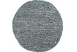 96 Inch Round Rug-Delon Grey