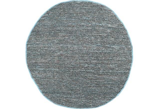 96 Inch Round Rug-Delon Grey - 360