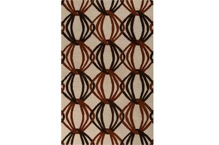 39X63 Rug-Rever Rust/Chocolate