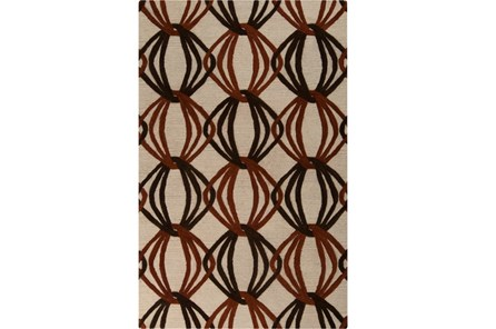 60X96 Rug-Rever Rust/Chocolate