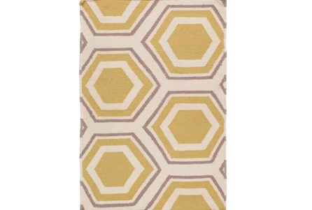 24X36 Rug-Shell Gold/Grey