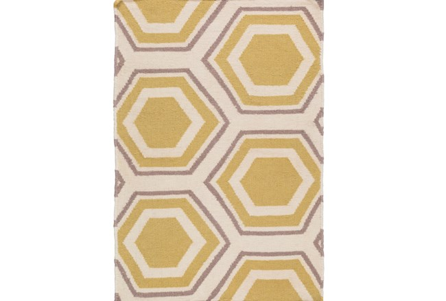 24X36 Rug-Shell Gold/Grey - 360
