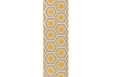 30X96 Rug-Shell Gold/Grey
