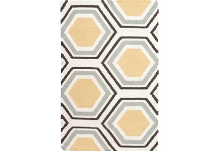 24X36 Rug-Shell Gold/Chocolate