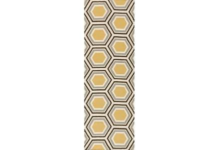 30X96 Rug-Shell Gold/Chocolate
