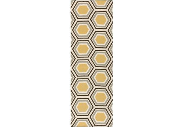 30X96 Rug-Shell Gold/Chocolate - 360