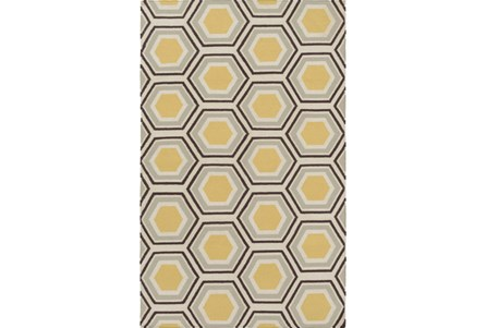 42X66 Rug-Shell Gold/Chocolate
